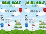 Mini Golf Birthday Invitations Mini Golf Birthday Parties Let Us Do the Work