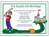 Mini Golf Birthday Invitations Mini Golf Birthday Party Invitation Boy Mandys Moon
