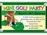 Mini Golf Birthday Invitations Mini Golf Miniature Golf Birthday Party Invitations Ebay