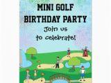 Mini Golf Birthday Invitations Mini Miniature Golf Birthday Party Invitations Zazzle