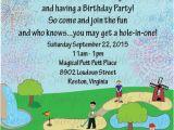 Mini Golf Birthday Invitations Mini Miniature Golf Kids Birthday Party Invitation Printable