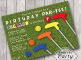Mini Golf Birthday Invitations Tictactogs original Graphic Design
