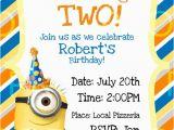 Minion 1st Birthday Invitations Custom Despicable Me 2 Birthday Invitation by