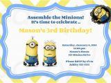 Minion 1st Birthday Invitations Free Printable Minion Birthday Party Invitations Ideas