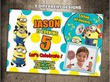 Minion 1st Birthday Invitations Items Similar to Minions Birthday Invitation Party Invite