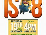 Minion 1st Birthday Invitations Minion Birthday Party Invitations Ideas Drevio