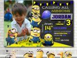 Minion 1st Birthday Invitations Minion Invitationminion Birthday Invitationminion Birthday