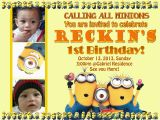 Minion 1st Birthday Invitations My Journey In Life Reckin 39 S 1st Birthday Invitation