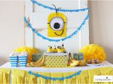 Minion Birthday Party Decoration Ideas Minions Party Ideas Despicable Me Birthday Homemade