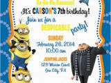 Minion Birthday Party Invites Confetti and Glitter Christmas Holiday Card Love It