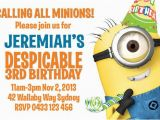 Minion Birthday Party Invites Despicable Me Minion Birthday Party Invitation by