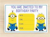 Minion Birthday Party Invites Fantastic Minion Blank Invitation 4 Cool Invitation