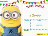 Minion Birthday Party Invites Free Printable Minion Birthday Invitation Templates Free