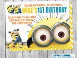 Minion Birthday Party Invites Minion Birthday Invitations Minion Birthday Invitations