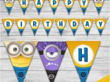 Minion Happy Birthday Banner Printable 25 Best Ideas About Minion Birthday Banner On Pinterest