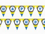 Minion Happy Birthday Banner Printable Customizable Despicable Me Minion Banner Pdf Printable