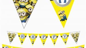 Minion Happy Birthday Banner Printable Despicable Me Minion Printable Pdf File Happy Birthday