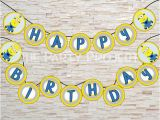 Minion Happy Birthday Banner Printable Diy Printable Minion Quot Happy Birthday Quot Banner Garland