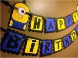 Minion Happy Birthday Banner Printable Minion Despicable Me Inspired Happy Birthday Banner