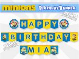 Minion Happy Birthday Banner Printable Minions Birthday Banner Happy Birthday Banner by