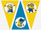 Minion Happy Birthday Banner Printable Minions Free Printable Bunting Labels and toppers Oh
