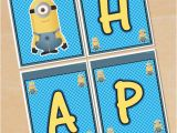 Minion Happy Birthday Banner Printable Minions Free Printable Happy Birthday Banners Oh My