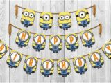 Minion Happy Birthday Banner Printable Unavailable Listing On Etsy