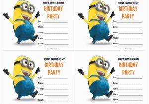 Minions Birthday Invitations Free Online 40th Ideas Minion Templates