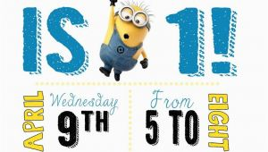 Minions Birthday Invitations Free Online Diy Design Den Minion Birthday Party with Free Printables