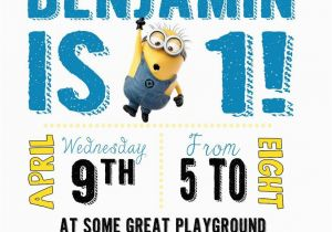 Minions Birthday Invitations Free Online Diy Design Den Minion Party With Printables