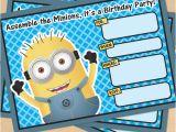 Minions Birthday Invitations Free Online Free Printable Despicable Me Minion Birthday Invitation