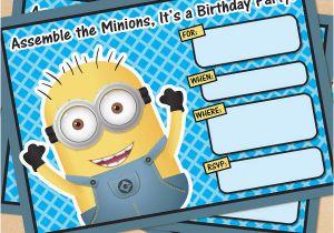 Minions Birthday Invitations Free Online Printable Despicable Me Minion Invitation
