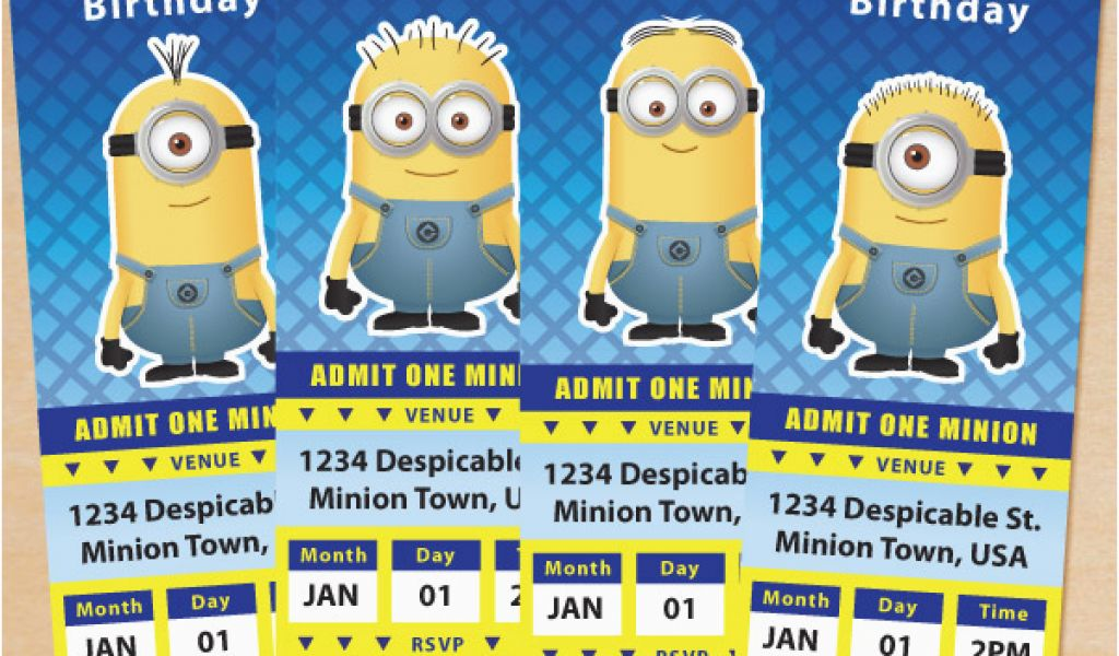 Download By SizeHandphone Tablet Desktop Original Size Back To Minions Birthday Invitations Free Online