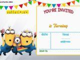 Minions Birthday Invitations Free Online Free Printable Minion Birthday Invitation Templates