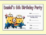 Minions Birthday Invitations Free Online Personalised Despicable Me Minions 2 Party Invitations X