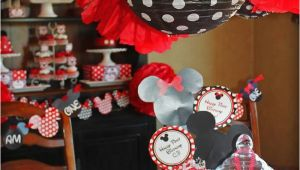 Minnie and Mickey Birthday Decorations Kara 39 S Party Ideas Mickey Minnie Mouse themed First