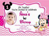 Minnie Birthday Invitation Baby Minnie Mouse 1st Birthday Invitations Dolanpedia