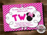 Minnie Birthday Invitation Birthday Invitation Templates Minnie Mouse 2nd Birthday