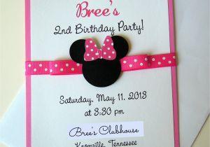 Minnie Birthday Invitation Minnie Mouse Birthday and Paper Mache