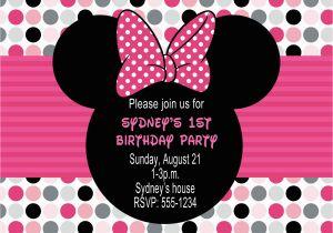 Minnie Birthday Invitation Minnie Mouse Birthday Party Invitations Free Invitation