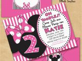 Minnie Birthday Invitation Minnie Mouse Inspired Birthday Party by Yourprintableparty