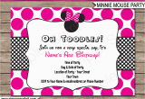 Minnie Birthday Invitation Minnie Mouse Party Invitations Template Birthday Party