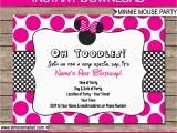 Minnie Birthday Invitation Minnie Mouse Party Invitations Template Birthday Party