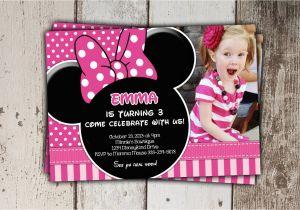 Minnie Birthday Invitation Sale Pink Minnie Mouse Invitations Birthday Invitations