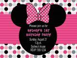 Minnie Invitations for Birthdays Minnie Mouse Birthday Party Invitations Free Invitation
