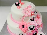 Minnie Mouse 1st Birthday Cake Decorations 1st Birthday Minnie Mouse Inspired Cake Cakecentral Com