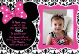Minnie Mouse 1st Birthday Custom Invitations 1st Birthday Invitations Minnie Mouse Drevio Invitations