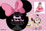 Minnie Mouse 1st Birthday Custom Invitations Baby Minnie 1st Birthday Invitations Drevio Invitations