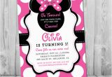 Minnie Mouse 1st Birthday Custom Invitations Minnie Mouse 1st Birthday Invitations Printable Girls Party