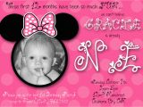 Minnie Mouse 1st Birthday Custom Invitations Unique Ideas for Minnie Mouse 1st Birthday Invitations